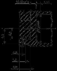 Требования по твёрдости дна гильзы HV при нагрузке 2,5 кг.